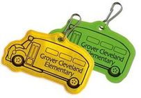School Bus Shaped Zipper Pulls