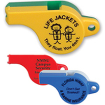 Plastic Police Whistles