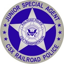 Railroad Badge Badge Stickers