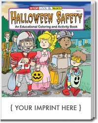 Halloween safety coloring books