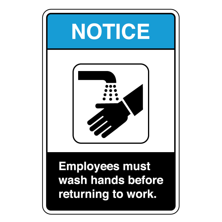 Employees Hand Washing Signs