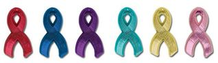Plastic Awareness Ribbon Lapel Pins