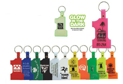 plastic number one key tags