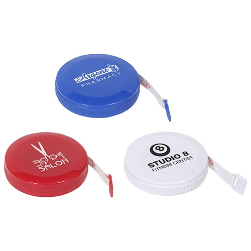 round retractable five foot tape measures